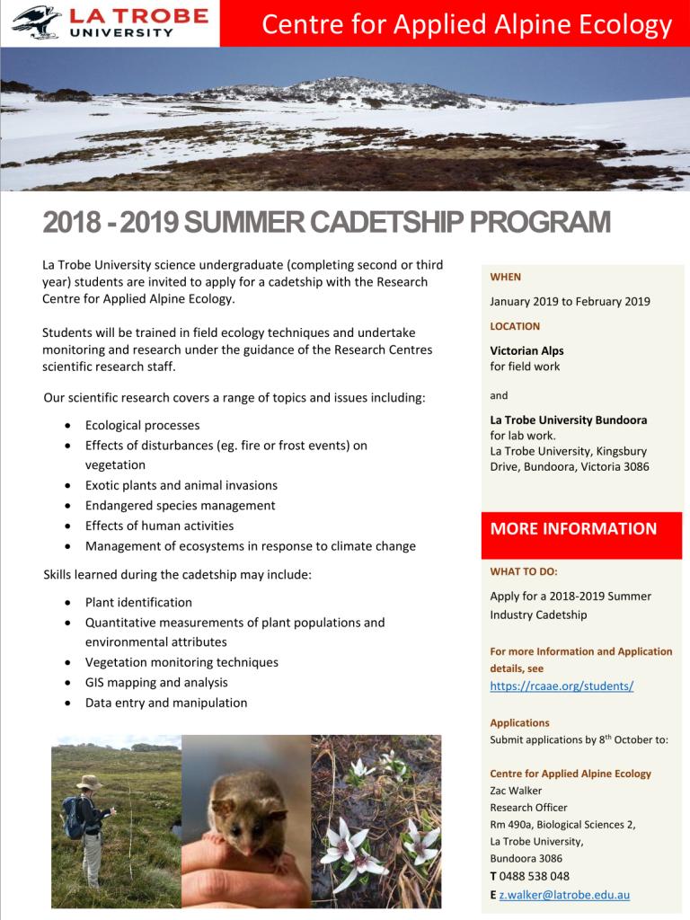 Summer Studentship 2018